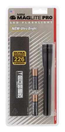Maglite Mini Pro 272 lumens Flashlight and Holster Combo Pack LED AA Black