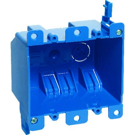 Carlon 3-15/16 in. H Rectangle 2 Gang Outlet Box Blue PVC