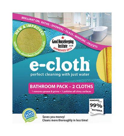 E-Cloth Bathroom Polyester/Polyamide Cleaning Cloth 2 pk