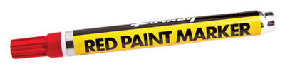 Forney Permanent Paint Marker Red