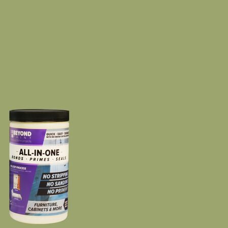 BEYOND PAINT Matte Sage Water-Based Acrylic All-In-One Paint 1 qt.