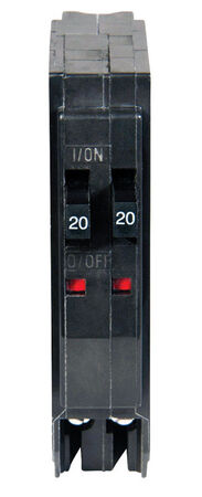 Square D QO Tandem/Single Pole 20/20 amps Circuit Breaker