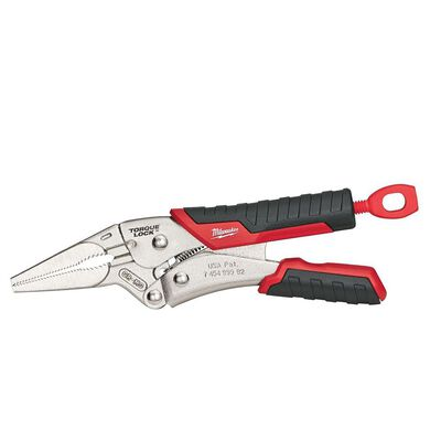 Milwaukee Torque Lock 6 in. Forged Alloy Steel Long Nose Pliers Red 1 pk