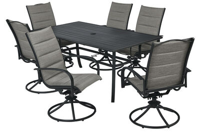 Dining Set Brookstone 7pc Brow