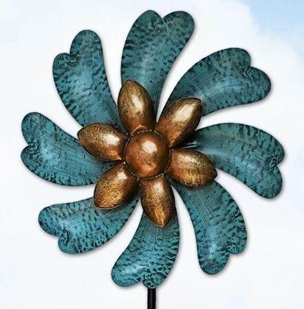"""Wind Spinner Blue Flower 45"""""""
