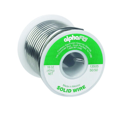 Alpha Fry 16 oz. For Plumbing Solid Wire Solder 50% Tin 50% Lead Tin / Lead