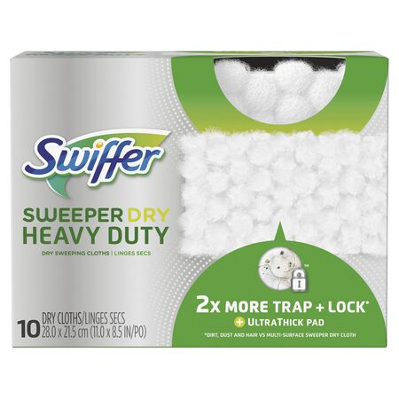 Swiffer SweeperDry Heavy Duty 11 in. W x 8.5 in. L Cloth Refill Pad 10 count