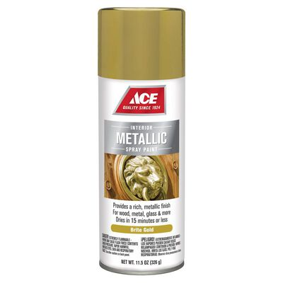 Ace Bright Gold Metallic Spray Paint 11.5 oz.