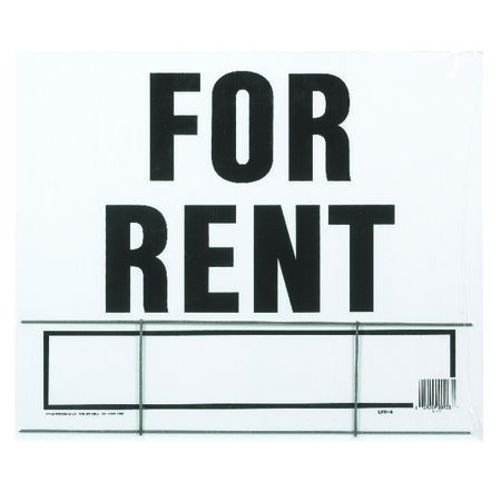 Hy-Ko English 20 in. H x 24 in. W Plastic Sign For Rent