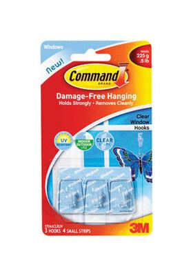 3M Command Small Window Hook 1-1/8 in. L Plastic 1/2 lb. per Hook 3 pk