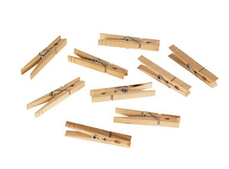 Homz 3.25 in. H Natural Wood Wood Clothes Pin