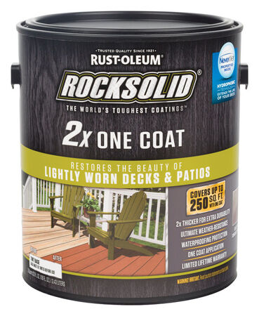 Rust-Oleum RockSolid 2X Solid Color Water-Based Deck Resurfacer Gray Tintable 1 gal.