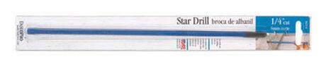 Dasco High Carbon Steel Hex 1/4 in. Dia. x 12 in. L Star Drill Bit 1 pc.