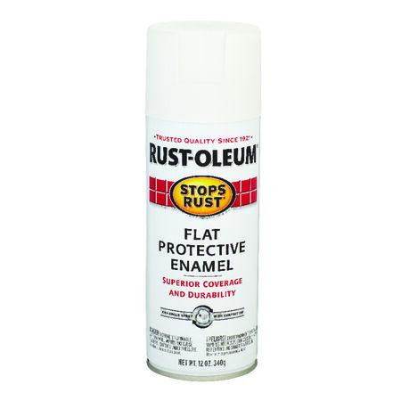 Rust-Oleum Stops Rust Flat White Spray Paint 12 oz.