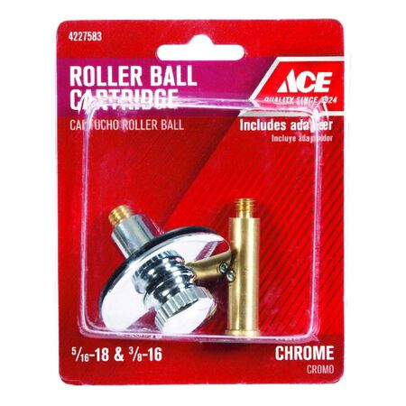 Ace Multi-Size in. Dia. Lift'N Turn Stopper Chrome