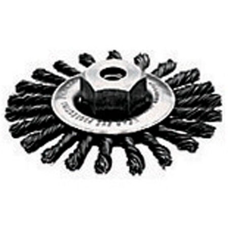 """4"""" x 5/8""""-11 HP .020 Carbon Cable Twist Wire Wheel"""