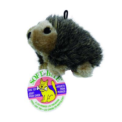 Booda Plush Hedgehog Chew Dog Toy Medium