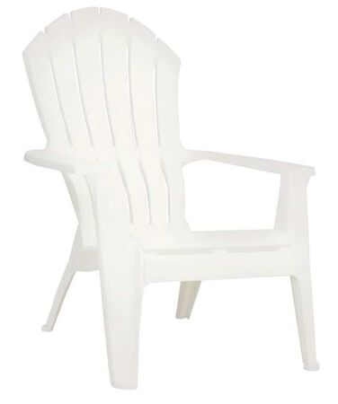 Adams RealComfort 1 White Polypropylene Adirondack Chair White