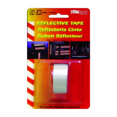 Trim Brite 0.75 in. W x 30 in. L White Reflective Tape 1 pk