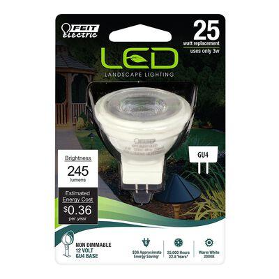 FEIT Electric LED Bulb 4 watts 240 lumens Reflector MR11 GU4 Soft White 1 25 watts equivalenc