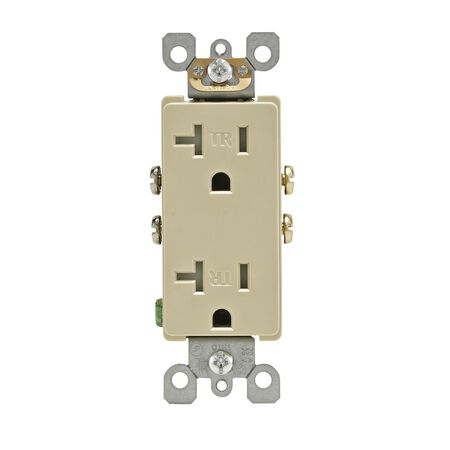 Leviton Decora Electrical Outlet 20 amps 5-20R 125 volts Ivory