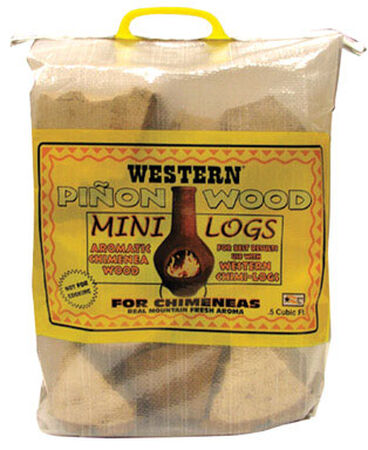 Western Aromatic Pinon Wood Mini Logs .5 cu. ft.