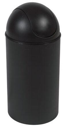 Umbra 10 gal. Black Grand Wastebasket