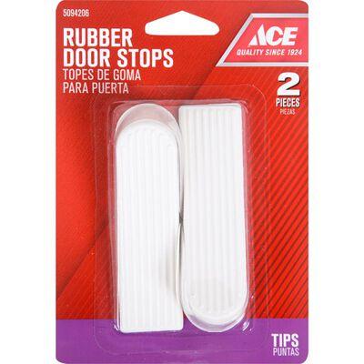 Ace Rubber Wedge Door Stop 3 in. H Almond