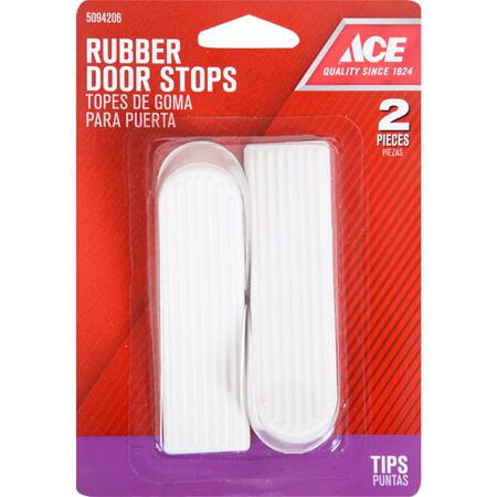 Ace Rubber Wedge Door Stop 3 in. H Almond