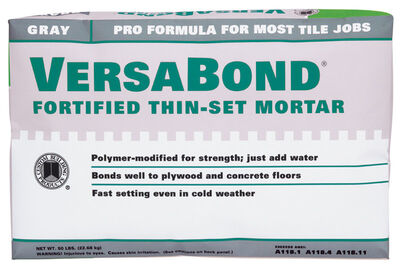 Versabond Gray Fortified Thin Mortar 50 lb.