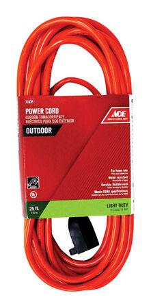 Ace Indoor and Outdoor Extension Cord 16/3 SJTW 25 ft. L Orange
