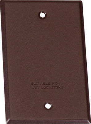 Sigma Rectangle Steel 1 gang Blank Box Cover For Wet Locations Bronze