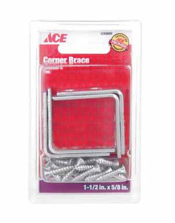 Ace Inside L Corner Brace 1-1/2 in. x 5/8 in. Zinc