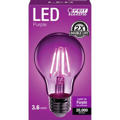 FEIT Electric Filament LED Bulb 3.6 watts A-Line A19 1 pk