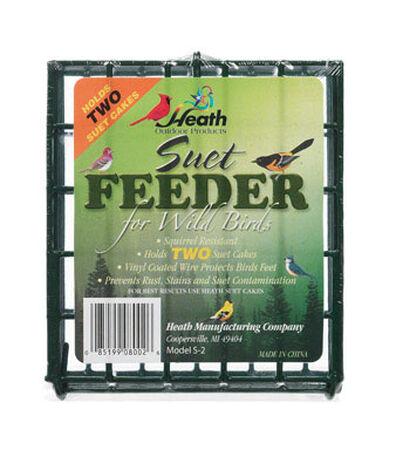 Heath Wild Bird 2 pk Metal Suet Bird Feeder