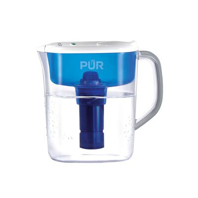 PUR Blue/White 11 cups Water Filtration Pitcher