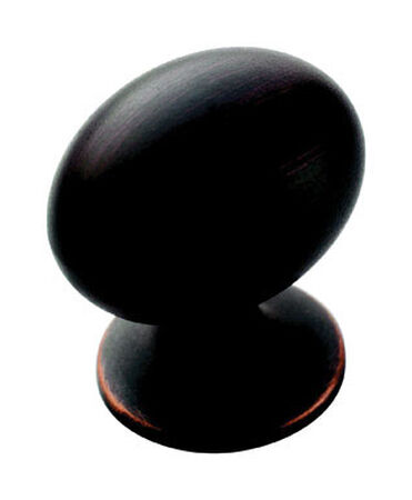 Amerock Allison Oval Furniture Knob 1-3/8 in. Dia. 1-7/16 in. Oil-Rubbed Bronze 1 pk