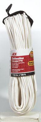 Ace 100 ft. L White Plastic Clothesline
