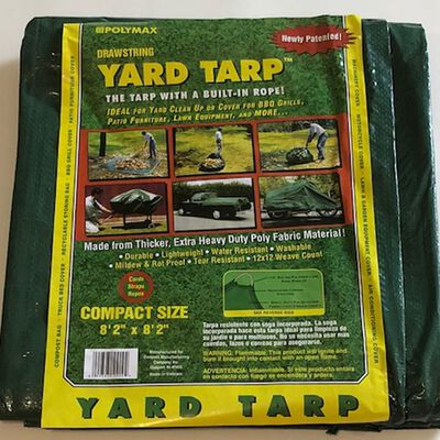 Gosport Green Heavy Duty Yard Tarp 9 ft. W x 9 ft. L