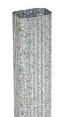 Amerimax 10 ft. L x 3 in. W x 2 in. H x 10 L x 3 in. H x 2 in. W Galvanized Steel Downspout K M