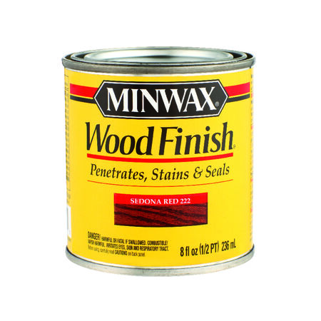 Minwax Wood Finish Transparent Sedona Red Oil-Based Wood Stain 0.5 pt.