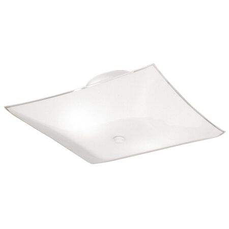 Westinghouse White Ceiling Fixture 6 in. H x 12 in. W