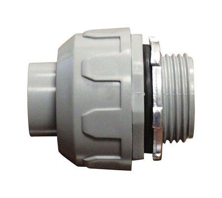 Sigma Electric 1/2 in. Dia. Plastic Straight Connector Liquid Tight 1 pk