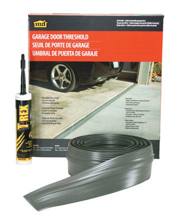 M-D Building Products Garage Door Vinyl 20 ft. L x 1/2 in. Threshold Insert Gray