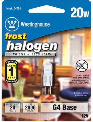 Westinghouse Halogen Light Bulb 20 watts 290 lumens JC T3 1.2 in. L Frosted 1 pk