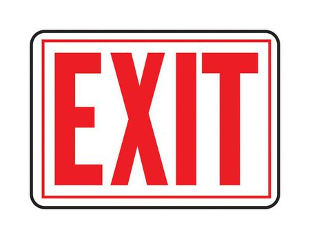 Hy-Ko English 10 in. H x 14 in. W Aluminum Sign Exit