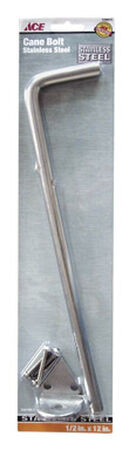 Ace Cane Bolt 12 in. Corrosion Resistant Stainless Steel ACQ Lumber Compatible