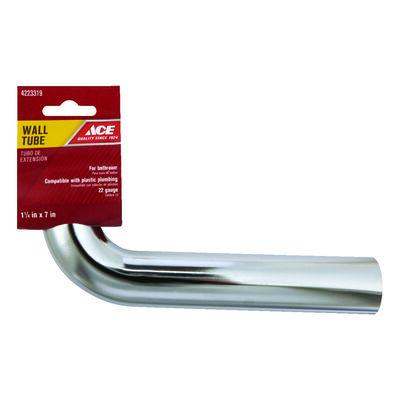 Ace 1-1/4 in. Dia. x 1-1/4 in. Dia. x 7 in. L Slip To Slip Chrome Plated Brass Wall Bend