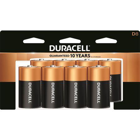 Duracell Coppertop D Alkaline Batteries 1.5 volts 8 pk