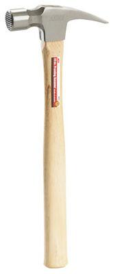 Ace 22 oz. Milled Face Hickory Framing Hammer Carbon Steel